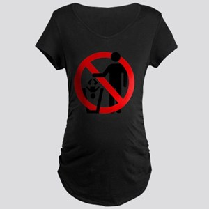 No-Trashing-Babies Maternity Dark T-Shirt