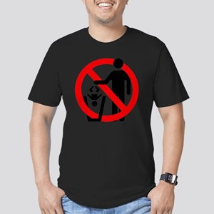 No-Trashing-Babies Men's Fitted T-Shirt (dark)