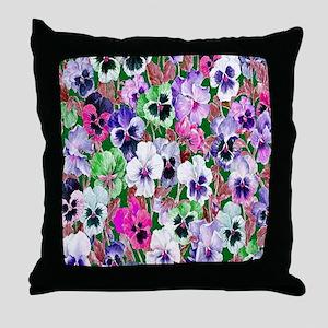 Pansies copy Throw Pillow