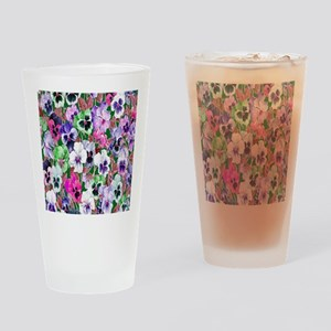 Pansies copy Drinking Glass