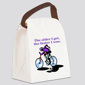 cyclist Canvas Lunch Bag