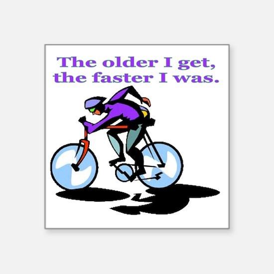 """cyclist Square Sticker 3"""" x 3"""""""