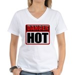 DANGER: HOT! Women's V-Neck T-Shirt
