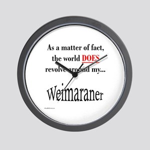Weimaraner World Wall Clock