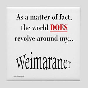 Weimaraner World Tile Coaster