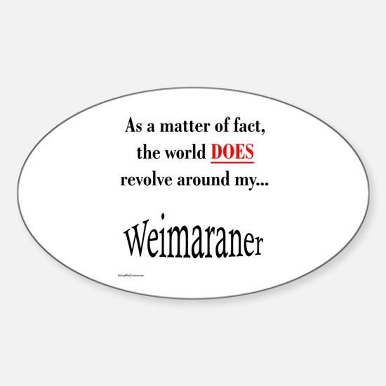 Weimaraner World Oval Decal