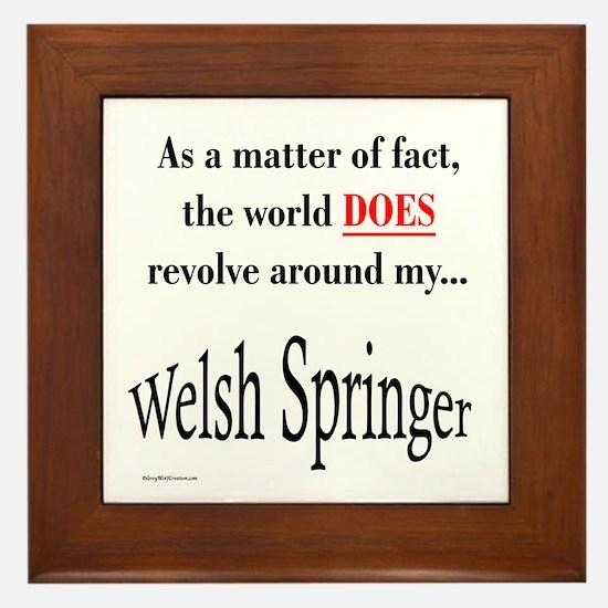 Welsh Springer World Framed Tile