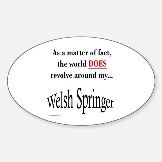 Welsh Springer World Oval Decal