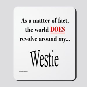 Westie World Mousepad