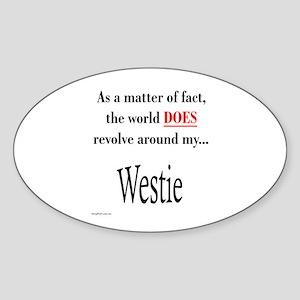 Westie World Oval Sticker
