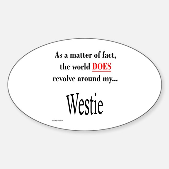 Westie World Oval Decal