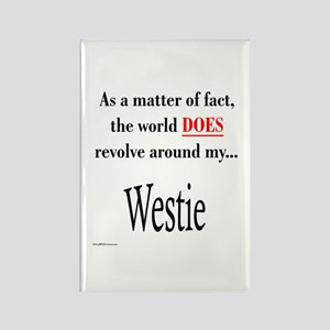 Westie World Rectangle Magnet