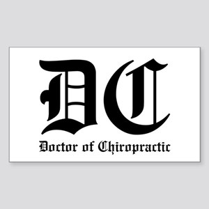 Doctor of Chiro Rectangle Sticker