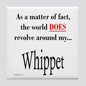 Whippet World Tile Coaster