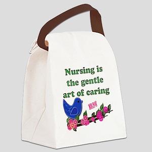 nursing blue bird RN copy Canvas Lunch Bag
