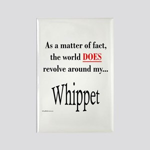 Whippet World Rectangle Magnet