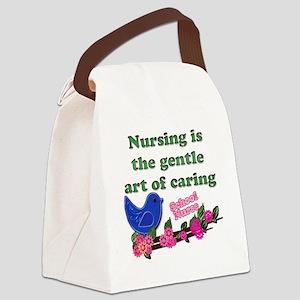 nursing blue bird school Canvas Lunch Bag