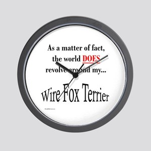 Wire Fox World Wall Clock