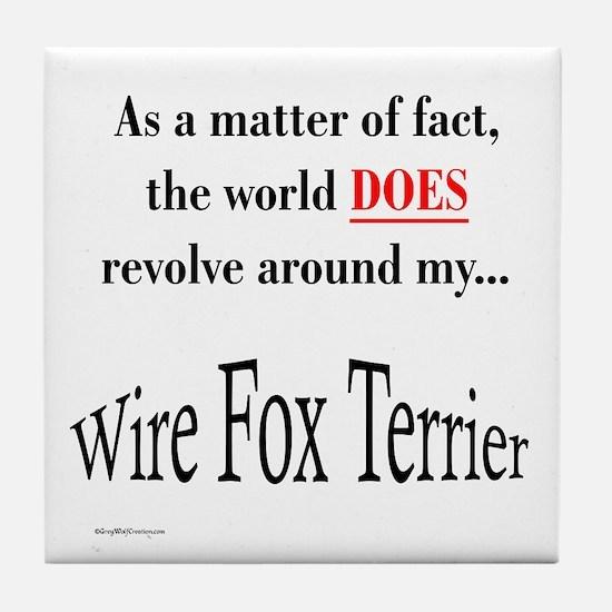 Wire Fox World Tile Coaster