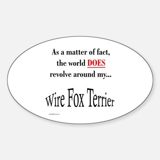 Wire Fox World Oval Decal