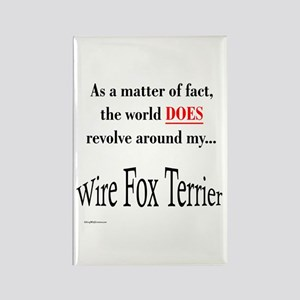 Wire Fox World Rectangle Magnet