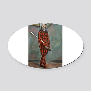 Harlequin - Paul Cezanne - c1888 Oval Car Magnet