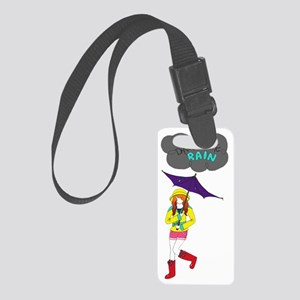 Dance-in-the-Rain! Small Luggage Tag