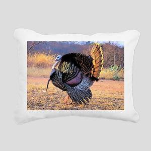 Wild turkey gobbler Rectangular Canvas Pillow