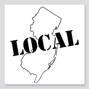 """Jersey Local logo Square Car Magnet 3"""" x 3"""""""