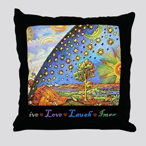 Live Love Laugh Imagined Throw Pillow