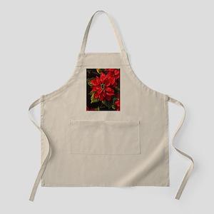 Scarlet Poinsettia Apron