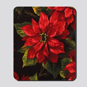 Scarlet Poinsettia Mousepad
