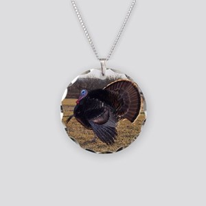Wild Turkey Necklace Circle Charm