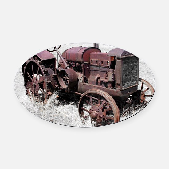 TRACTOR MP Oval Car Magnet