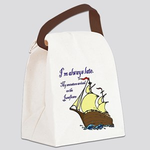 Juneflower Always Late Canvas Lunch Bag