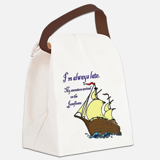 Juneflower Always Late Canvas Lunch Bag
