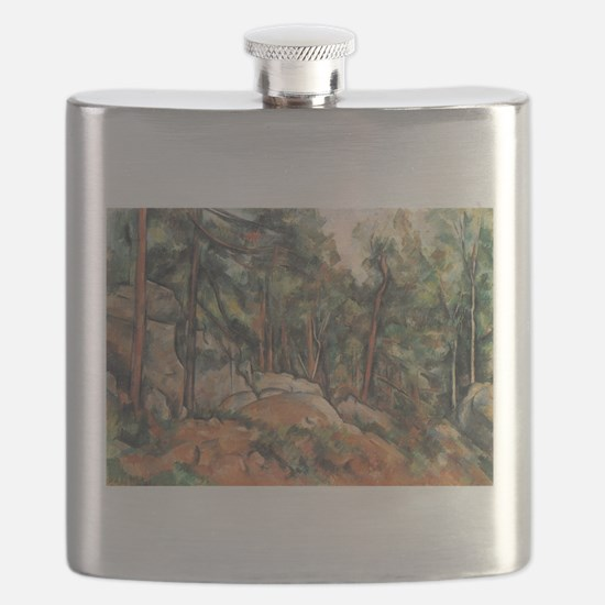 In the Forest - Paul Cezanne - c1898 Flask