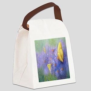 Yellow Butterflies (2) Canvas Lunch Bag