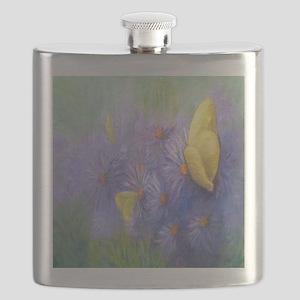 Yellow Butterflies (2) Flask