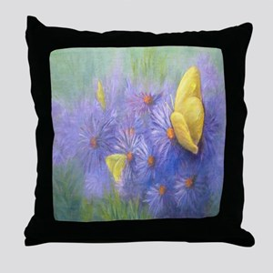 Yellow Butterflies (2) Throw Pillow