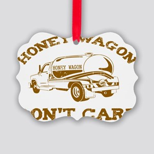 HONEY WAG1BROWN2 DIS Picture Ornament