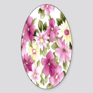 Wonderful-Flowers Sticker (Oval)