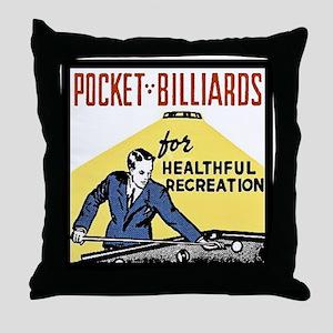 Pocket Billiards Throw Pillow
