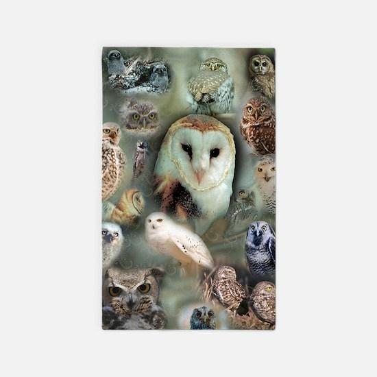 Owls 3'x5' Area Rug