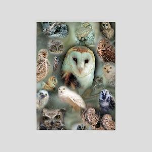 Owls 5'x7'Area Rug