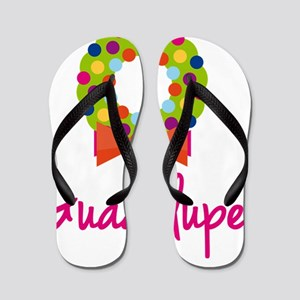 Christmas-wreath-Guadalupe Flip Flops