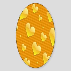 hearts copyyyyyy Sticker (Oval)