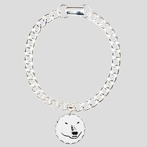 Andy plain white face tr Charm Bracelet, One Charm