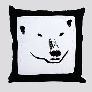 Andy plain white face transparent bac Throw Pillow