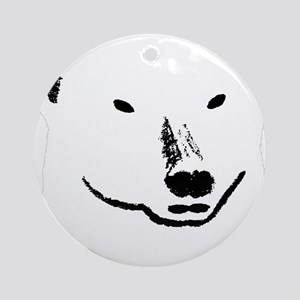 Andy plain white face transparent b Round Ornament
